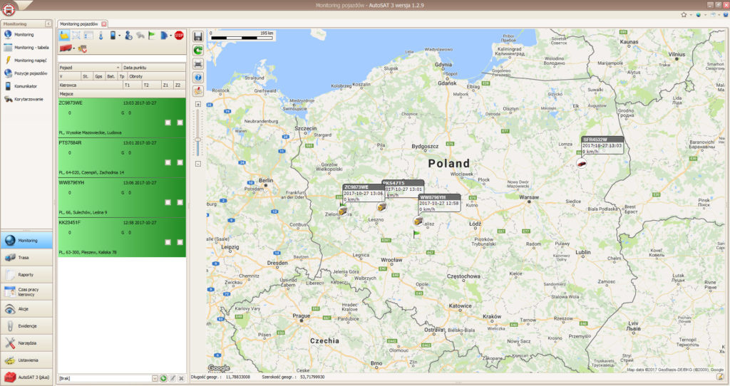autosat 3 monitoring pojazdów